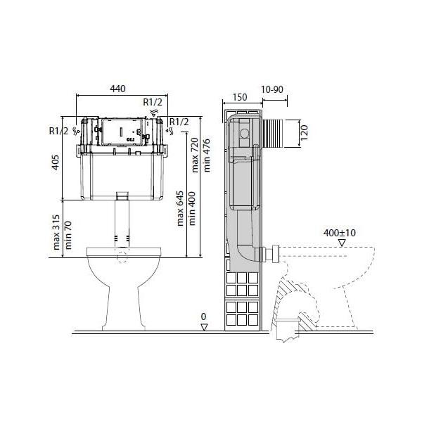 Studio Bagno Manhattan Wall Faced Pan + Cistern 04