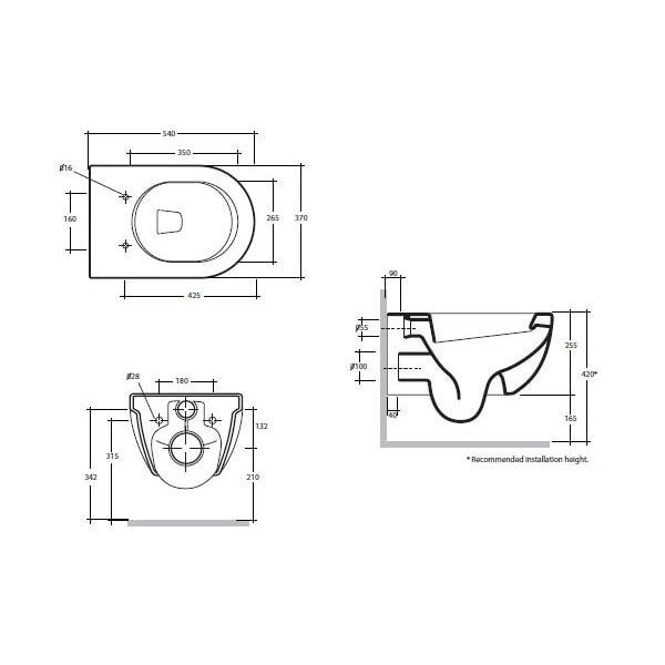 Studio Bagno Nicole Wall Hung Pan + Cistern 03