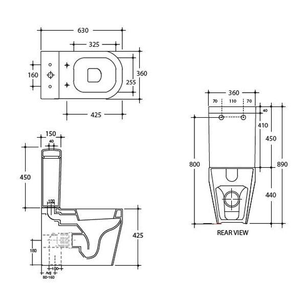 Studio Bagno Tutto Evo Back To Wall Toilet Suite 03