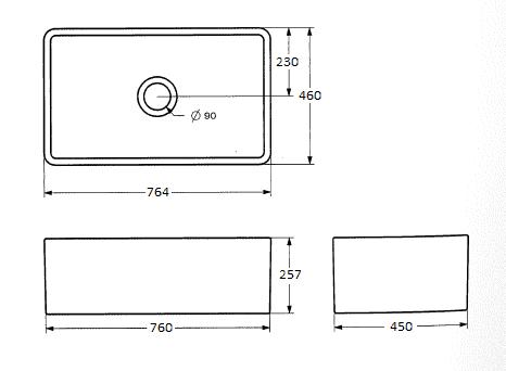 Th Novi Single Butler Sink No75fs Specs