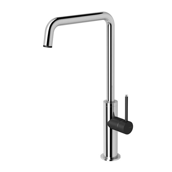 Toi Sink Mixer 180mm Squareline Chrome Matte Black 04