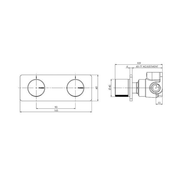 Toi Twin Shower Wall Mixer 04