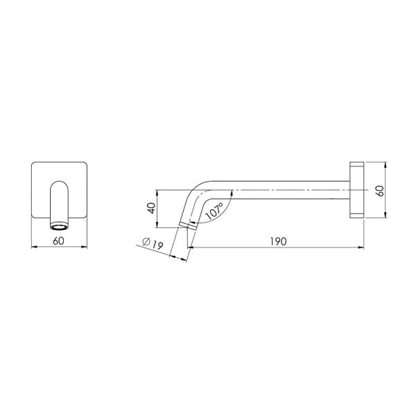 Toi Wall Basin Outlet 180mm 03