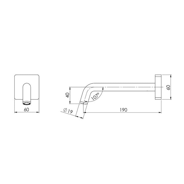 Toi Wall Bath Outlet 180mm 03