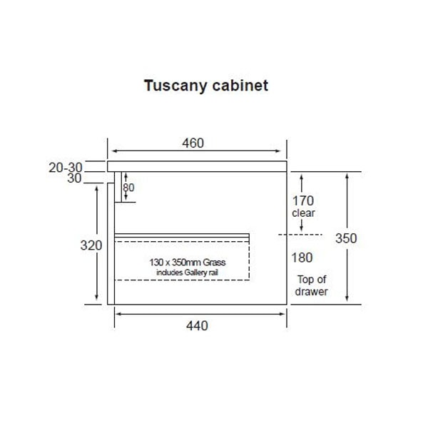 Tuscany All Drawers 600 02