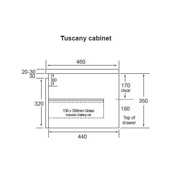 Tuscany All Drawers 750 02