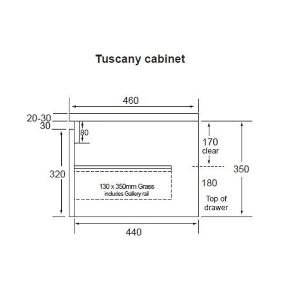 Tuscany All Drawers 900 02