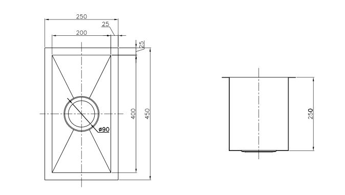 Uptown Uts200 Square Sink Specs