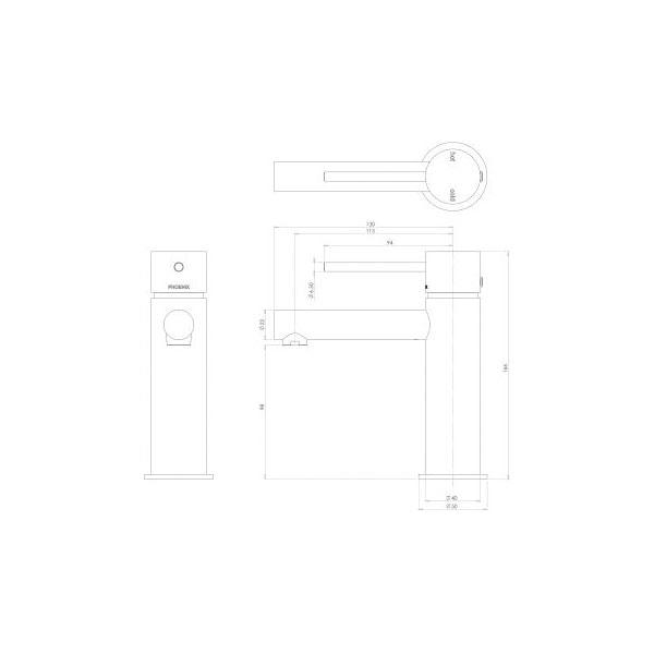 Vivid Slimline Basin Mixer 02