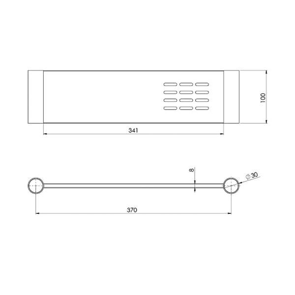 Vivid Slimline Metal Shelf 3