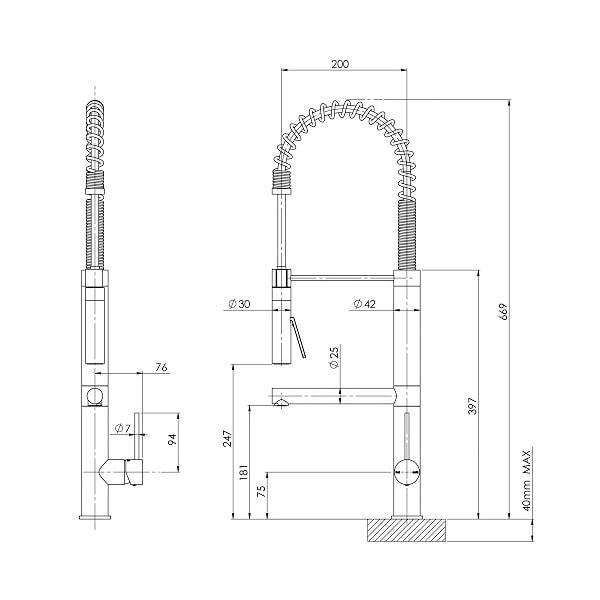 Vivid Slimline Multi Function Sink Mixer 02