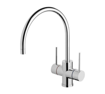 Vivid Slimline Twin Handle Sink Mixer 220mm 01