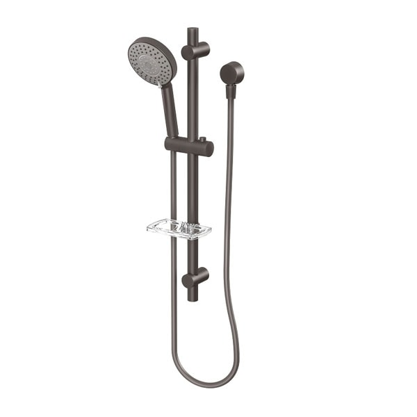 Vivid Hand Shower On Rail Black 02