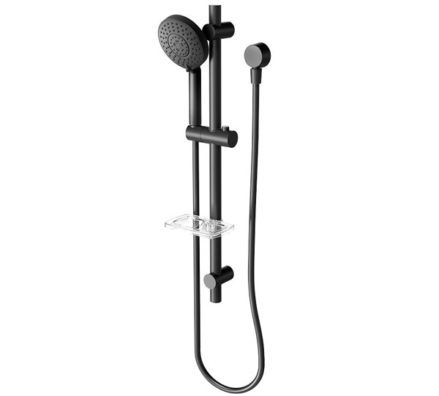 Vivid Hand Shower On Rail Black 03