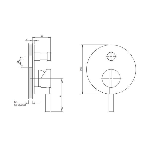 Vivid Wall Mixer With Diverter 02