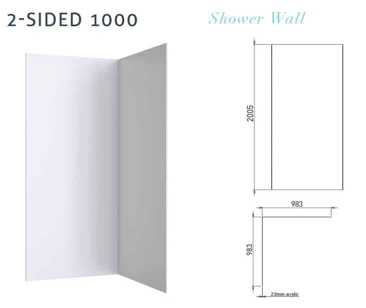 Wall 2 Sided 1000 Specs
