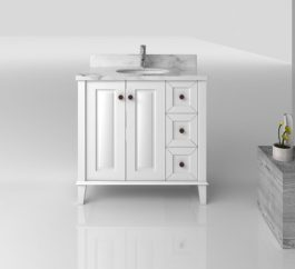 Coventry 900 White 3 Drawers 2