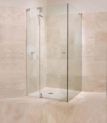Frameless Pivot Showers