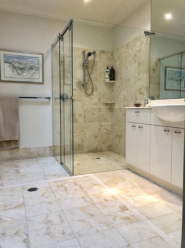 Glass Sliding Bathroom Door