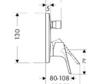 Hansgrohe Focus 31947rec Technical Drawing