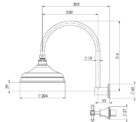 Ns121 Nostalgia Shower Set Line Drawing 1