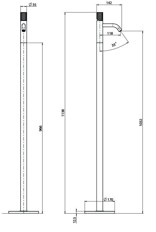 F3031px Technical Drawing