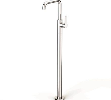Faucet Zeos Floor Bath Mixer Square