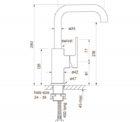 Faucet Zeos Sink Mixer Square 160 Specs