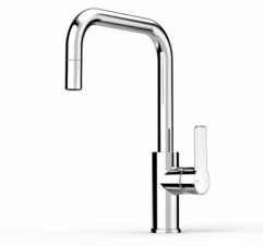 Faucet Zeos Sink Mixer Square Pullout1