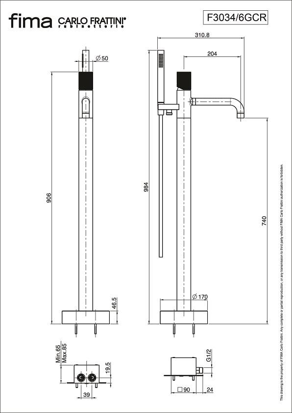 Fima Spillo Tech F3034 6g Technical Drawing