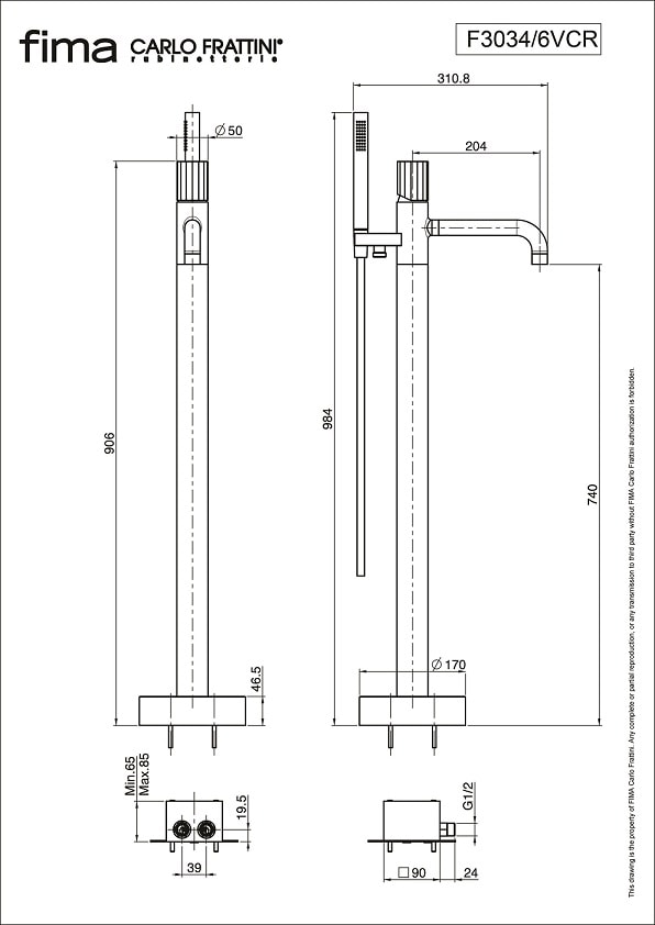 Fima Spillo Tech F3034 6v Technical Drawing