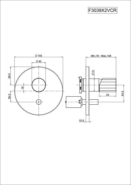 Fima Spillo Tech F3039x2vcr Technical Drawing