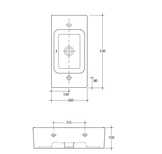 Sb Compact Wh Basin Specs