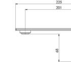 117 7610 Axia Wall Outlet 200mm Line Drawing 1