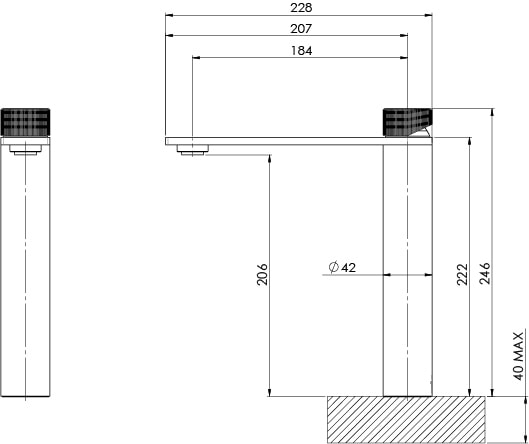 117 7900 Axia Vessel Mixer Line Drawing